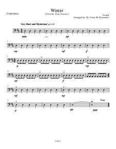Концерт для скрипки с оркестром No.4 фа минор 'Зима', RV 297: Movement I, for school string orchestra – contrabass part by Антонио Вивальди