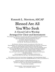 Blessed Are All You Who Seek: Blessed Are All You Who Seek by Ken Morrison