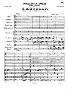 Концерт для фортепиано с оркестром No.13 до мажор, K.415: Часть I by Вольфганг Амадей Моцарт