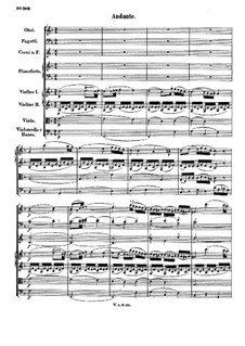 Концерт для фортепиано с оркестром No.13 до мажор, K.415: Часть II by Вольфганг Амадей Моцарт