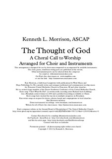 The Thought of God: The Thought of God by Ken Morrison