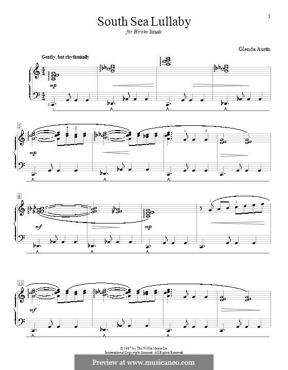 South Sea Lullaby: Для фортепиано by Glenda Austin