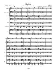 Концерт для скрипки с оркестром No.1 ми мажор 'Весна', RV 269: Movement I, for school string orchestra – score by Антонио Вивальди