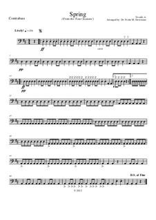 Концерт для скрипки с оркестром No.1 ми мажор 'Весна', RV 269: Movement I, for school string orchestra – double bass part by Антонио Вивальди