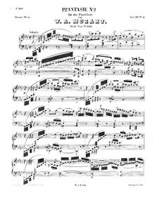 Фантазия для фортепиано No.2 до минор, K.396: Для одного исполнителя by Вольфганг Амадей Моцарт