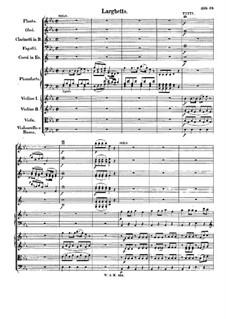 Концерт для фортепиано с оркестром No.24 до минор, K.491: Часть II by Вольфганг Амадей Моцарт