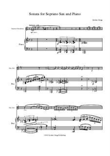 Sonata for Soprano Saxophone and Piano: Sonata for Soprano Saxophone and Piano by Jordan Grigg
