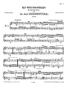 Одиннадцать новых багателей для фортепиано, Op.119: Весь сборник by Людвиг ван Бетховен