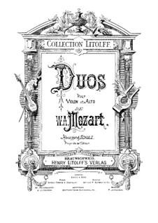 Два дуэта для скрипки и альта, K.423, 424: Два дуэта для скрипки и альта by Вольфганг Амадей Моцарт