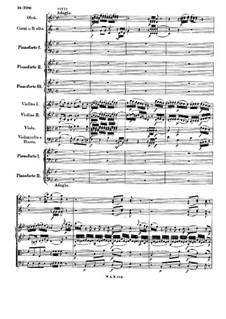 Концерт для трёх фортепиано с оркестром No.7 фа мажор 'Лодрон-концерт', K.242: Часть II by Вольфганг Амадей Моцарт