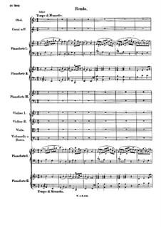 Концерт для трёх фортепиано с оркестром No.7 фа мажор 'Лодрон-концерт', K.242: Часть III by Вольфганг Амадей Моцарт