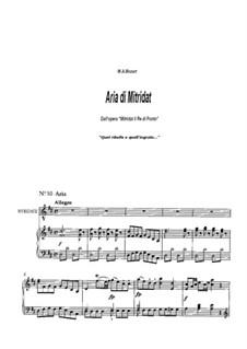 No.10 Aria di Mitridat 'Quel ribelle e quell'ingrato': No.10 Mitridat's Aria 'Quel ribelle e quell'ingrato' by Вольфганг Амадей Моцарт
