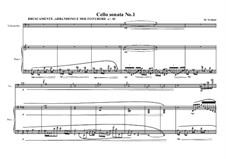 Cello sonata No.1, MVWV 214: Cello sonata No.1 by Maurice Verheul