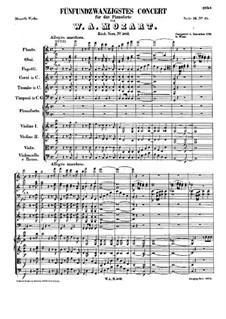 Концерт для фортепиано с оркестром No.25 до мажор, K.503: Часть I by Вольфганг Амадей Моцарт