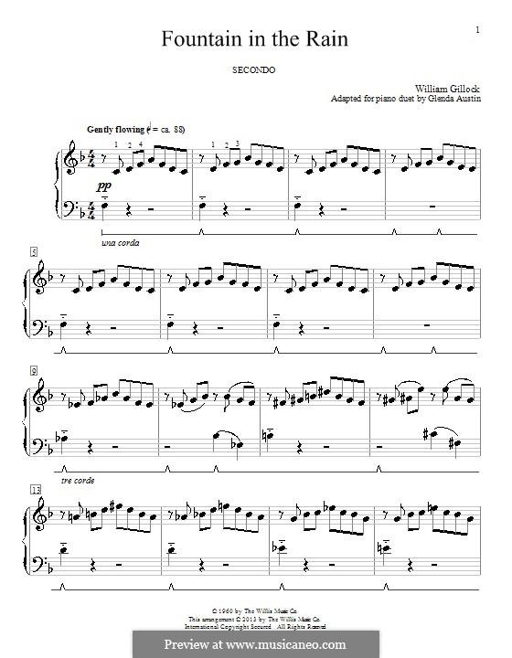 Fountain in the Rain: Для фортепиано by Glenda Austin