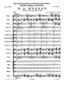 Тамос, король Египта, K.345: No.1 by Вольфганг Амадей Моцарт