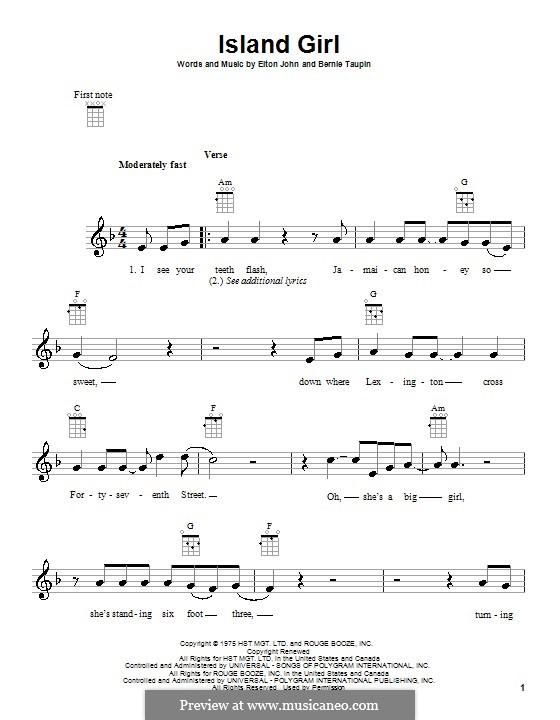 Island Girl: Для укулеле by Elton John