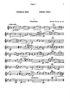 Миниатюры для двух скрипок и альта, B.149 Op.75a: Партии by Антонин Дворжак