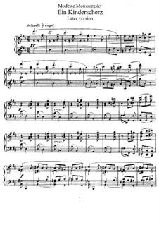 Детское скерцо для фортепиано: Поздняя версия by Модест Мусоргский