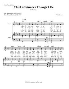 Chief of Sinners Though I Be: Клавир с вокальной партией by Richard Redhead
