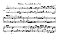 5 Simple pieces for piano: Ninth book No.3, MVWV 727 by Maurice Verheul