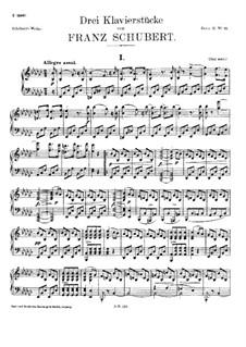 Три фортепианные пьесы, D.946: Для одного исполнителя by Франц Шуберт