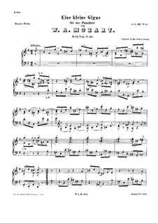Маленькая жига соль мажор, K.574: Для фортепиано by Вольфганг Амадей Моцарт