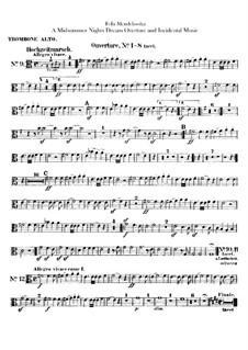 Музыка к драме Шекспира: Партии тромбонов и офиклеида by Феликс Мендельсон-Бартольди