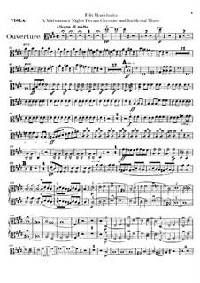 Музыка к драме Шекспира: Партия альтов by Феликс Мендельсон-Бартольди