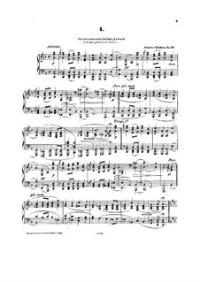 Четыре баллады, Op.10: Весь сборник by Иоганнес Брамс