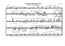 1 measure 'Etudes to the nocturnes' for piano: Movement No.3 (No.10), MVWV 585 by Maurice Verheul