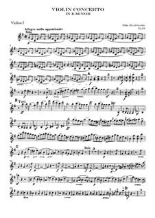 Концерт для скрипки с оркестром ми минор, Op.64: Скрипка I by Феликс Мендельсон-Бартольди