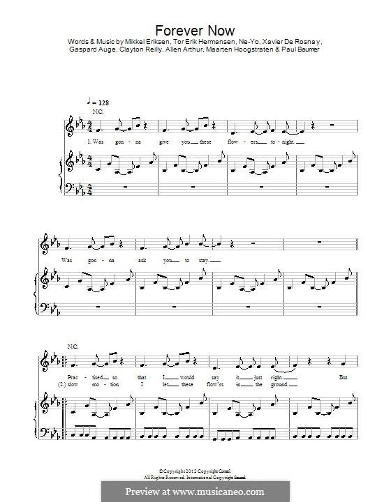 Forever Now: Для голоса и фортепиано (или гитары) by Mikkel Storleer Eriksen, Ne-Yo, Allen Arthur, Clayton Reilly, Gaspard Auge, Maarten Hoogstraten, Paul Baumer, Xavier De Rosnay