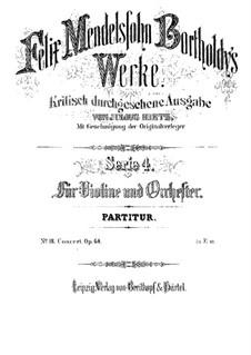 Концерт для скрипки с оркестром ми минор, Op.64: Партитура by Феликс Мендельсон-Бартольди