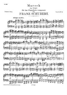 Марш ми мажор, D.606: Для фортепиано by Франц Шуберт