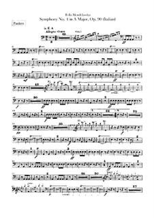 Симфония No.4 ля мажор 'Итальянская', Op.90: Партия литавр by Феликс Мендельсон-Бартольди