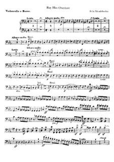 Рюи Блаз, Op.95: Партия виолончели и контрабаса by Феликс Мендельсон-Бартольди