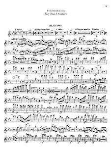 Рюи Блаз, Op.95: Партия флейт by Феликс Мендельсон-Бартольди