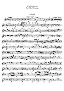 Рюи Блаз, Op.95: Партии гобоев by Феликс Мендельсон-Бартольди