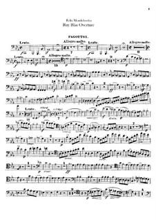 Рюи Блаз, Op.95: Партии фаготов by Феликс Мендельсон-Бартольди