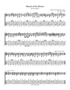 March of the Pirates, Op.65 No.5: Для гитары (легкий уровень) by Иоганнес Палашко