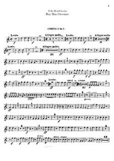 Рюи Блаз, Op.95: Партии валторн by Феликс Мендельсон-Бартольди