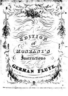 Школа игры на немецкой флейте: Часть I by Тебальдо Монцани