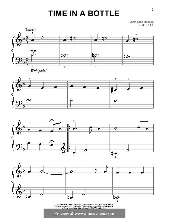 Time in a Bottle: Для фортепиано by Jim Croce