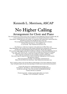No Higher Calling: No Higher Calling by Ken Morrison