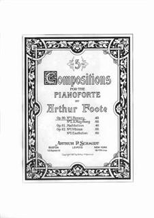 Две пьесы, Op.60: No.1 Revery by Артур Фут