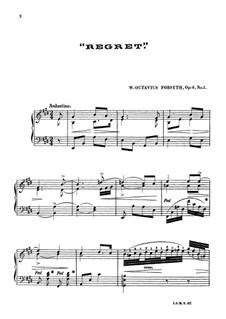 Regret, Op.6 No.1: Для фортепиано by Wesley Octavius Forsyth