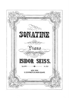 Sonatine, Op.8 No.1: Sonatine by Isidor Seiss