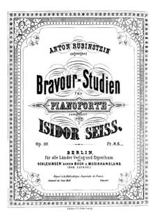 Bravour-Studien, Op.10: Bravour-Studien by Isidor Seiss