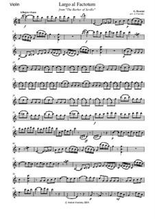 Севильский цирюльник: Aria Figaro 'Largo al factotum', for string trio – parts by Джоаккино Россини